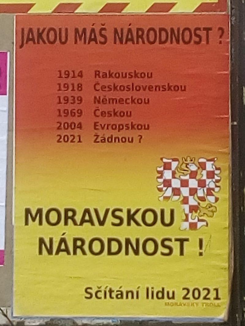 Affisso di propaganda firmato Moravský Troll.